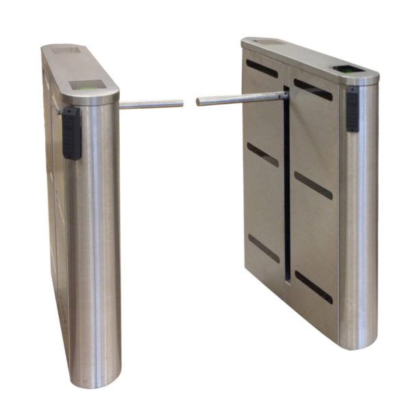 Hayward Turnstiles Optical thin turnstile electronic ezlanedroparm_narrow1drop arm security access control lobby entrance system for libraries and schools small spaces